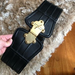 Tracy Reese black leather belt